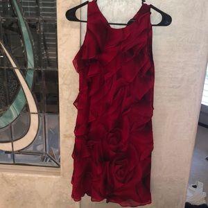 White House Black Market red dress